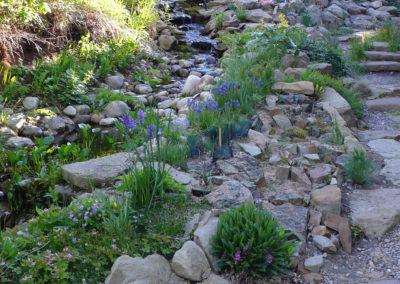Sandstone and Fieldstone Creek with Adjacent Moraine